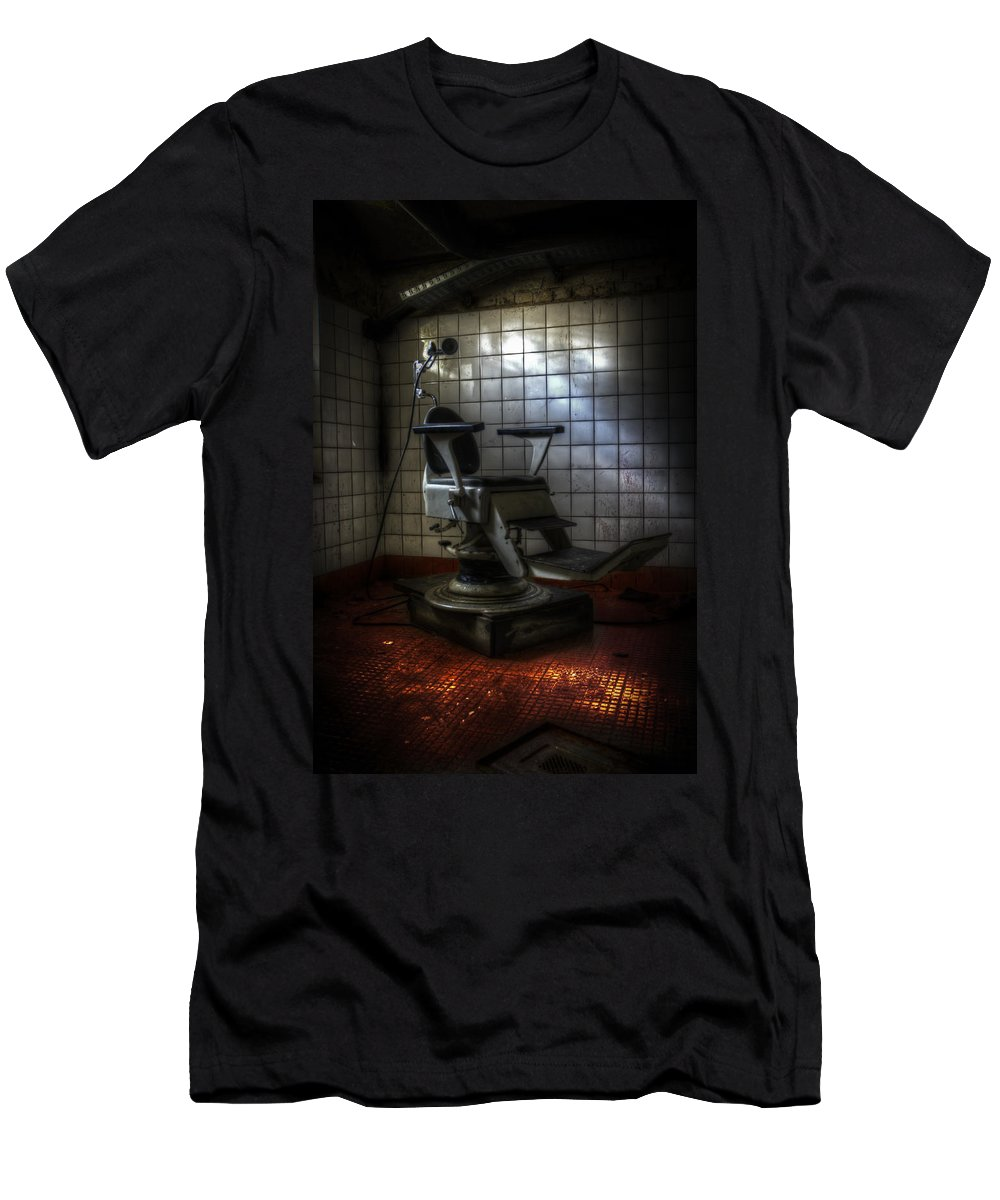 Berlin Men's T-Shirt (Athletic Fit) featuring the digital art Chair Of Horror by Nathan Wright