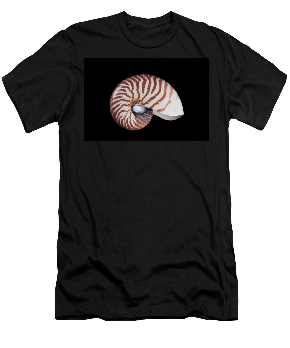 Feb0514 Men's T-Shirt (Athletic Fit) featuring the photograph Chambered Nautilus by Ingo Arndt