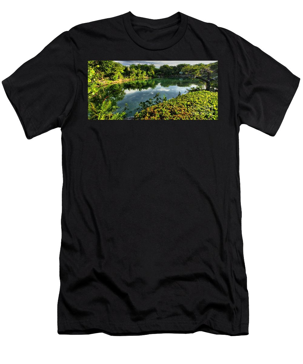 Chankanaab Men's T-Shirt (Athletic Fit) featuring the photograph Chankanaab Mexico Lagoon by Adam Jewell