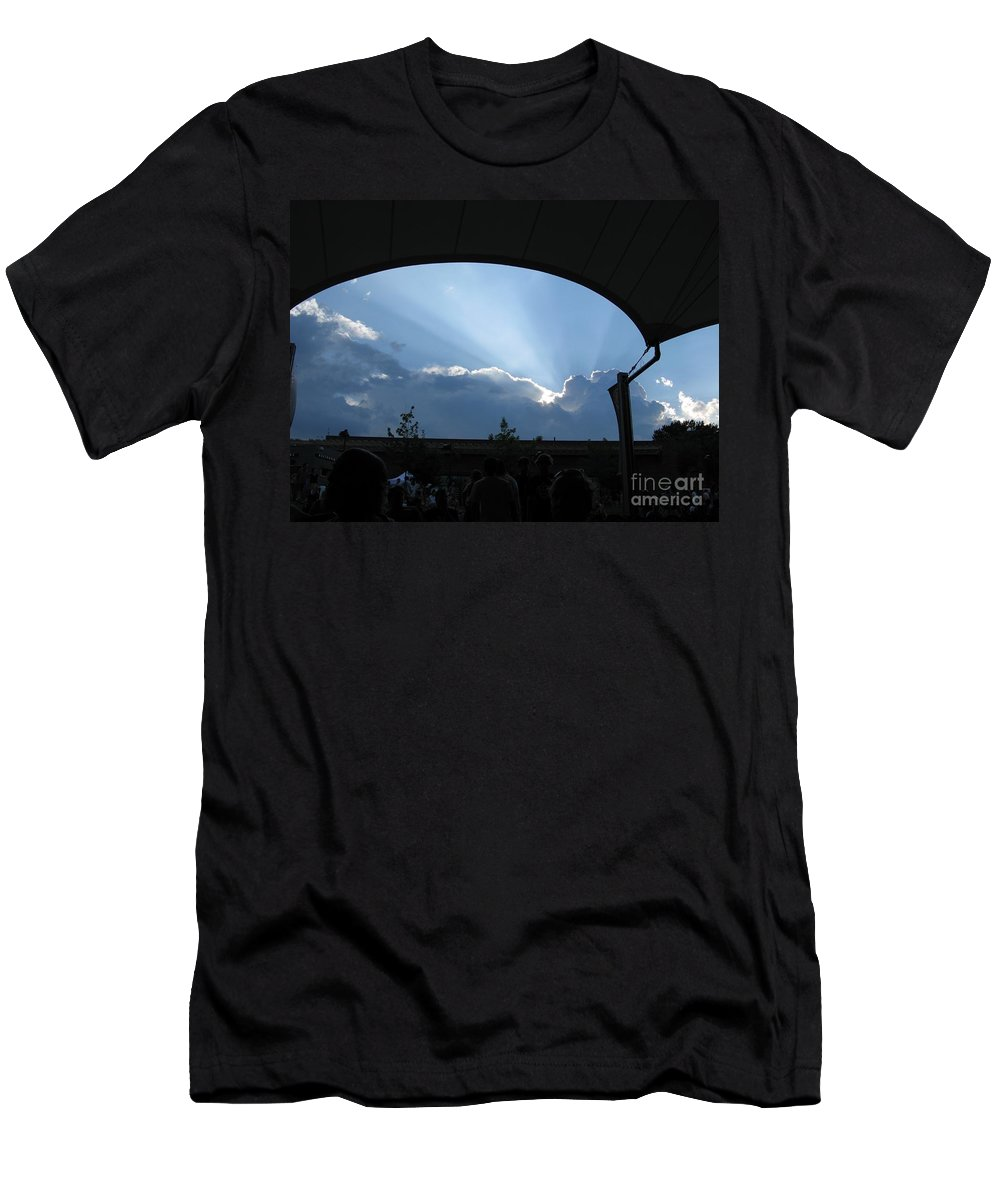 Sky Men's T-Shirt (Athletic Fit) featuring the photograph Charlottesville Pavilion July 2008 by Ausra Huntington nee Paulauskaite