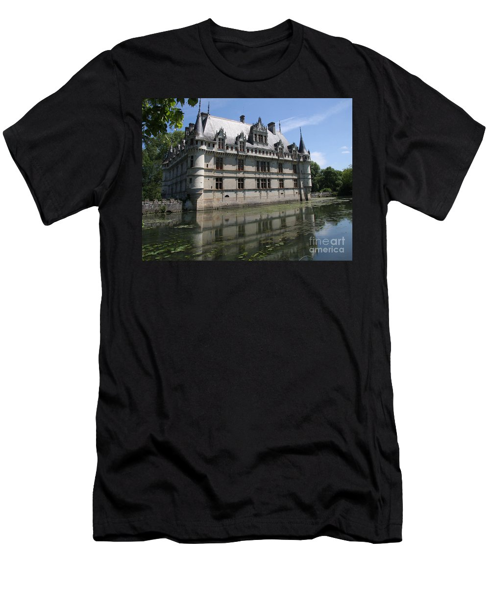 Castle Men's T-Shirt (Athletic Fit) featuring the photograph Chataeu Azay-le-rideau by Christiane Schulze Art And Photography