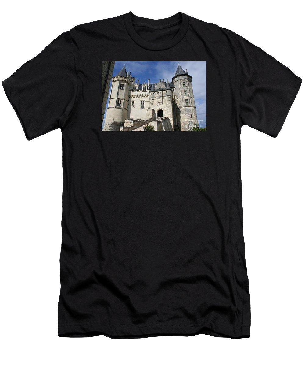 Castle Men's T-Shirt (Athletic Fit) featuring the photograph Chateau Saumur by Christiane Schulze Art And Photography