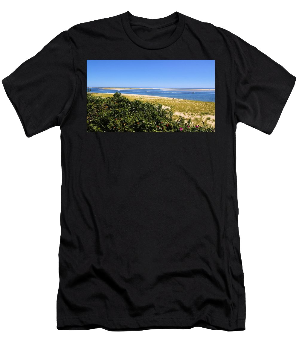 Chatham Men's T-Shirt (Athletic Fit) featuring the photograph Chatham Beach by Robert McCulloch