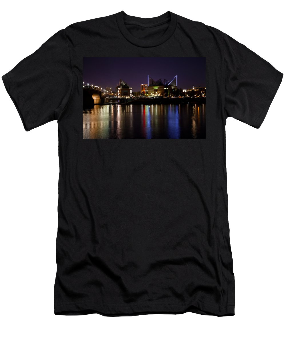 View Men's T-Shirt (Athletic Fit) featuring the photograph Chattanooga At Night by Melinda Fawver
