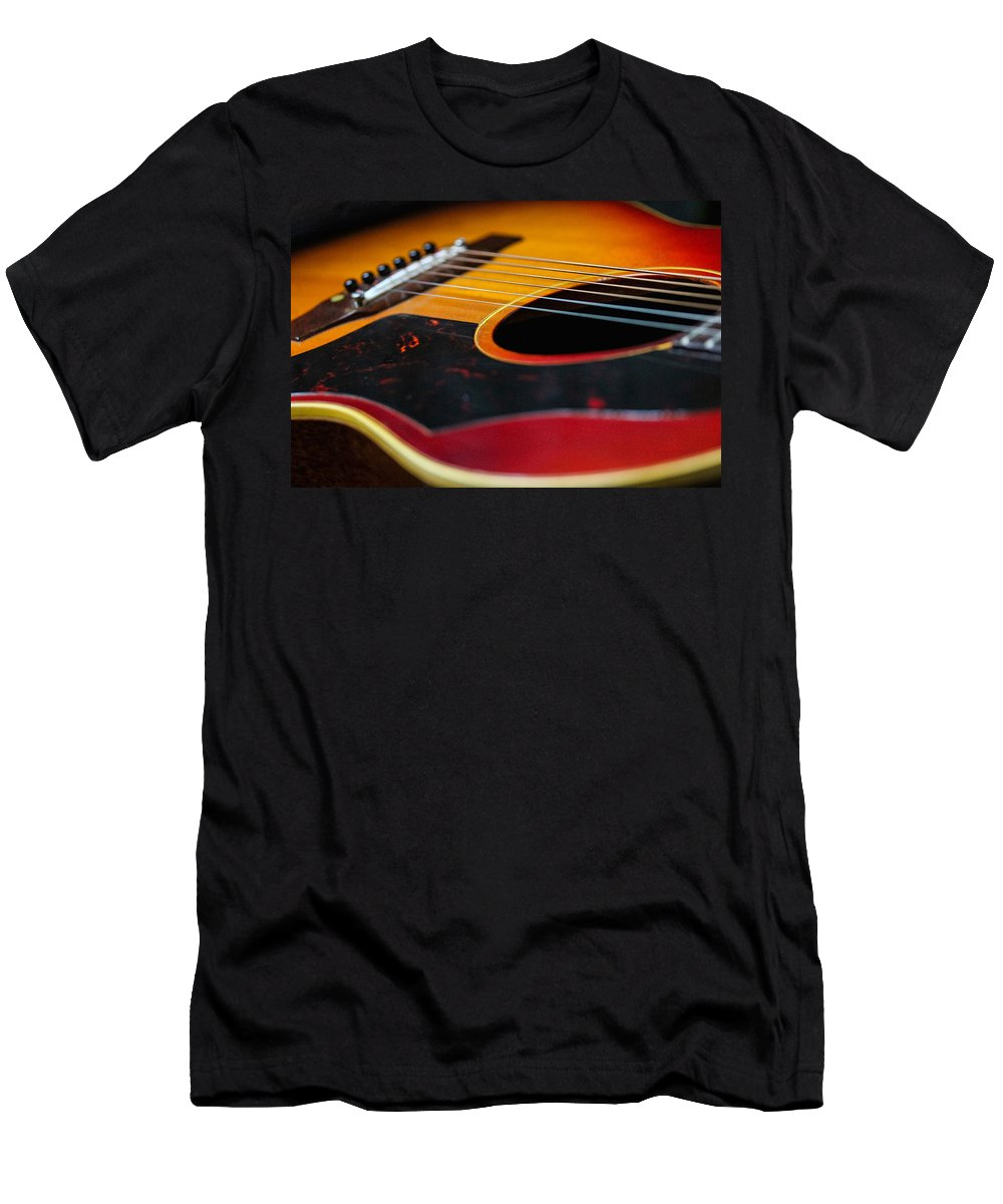 1961 Gibson Lg-2 Men's T-Shirt (Athletic Fit) featuring the photograph Cherry Sunburst by Hugh Stickney