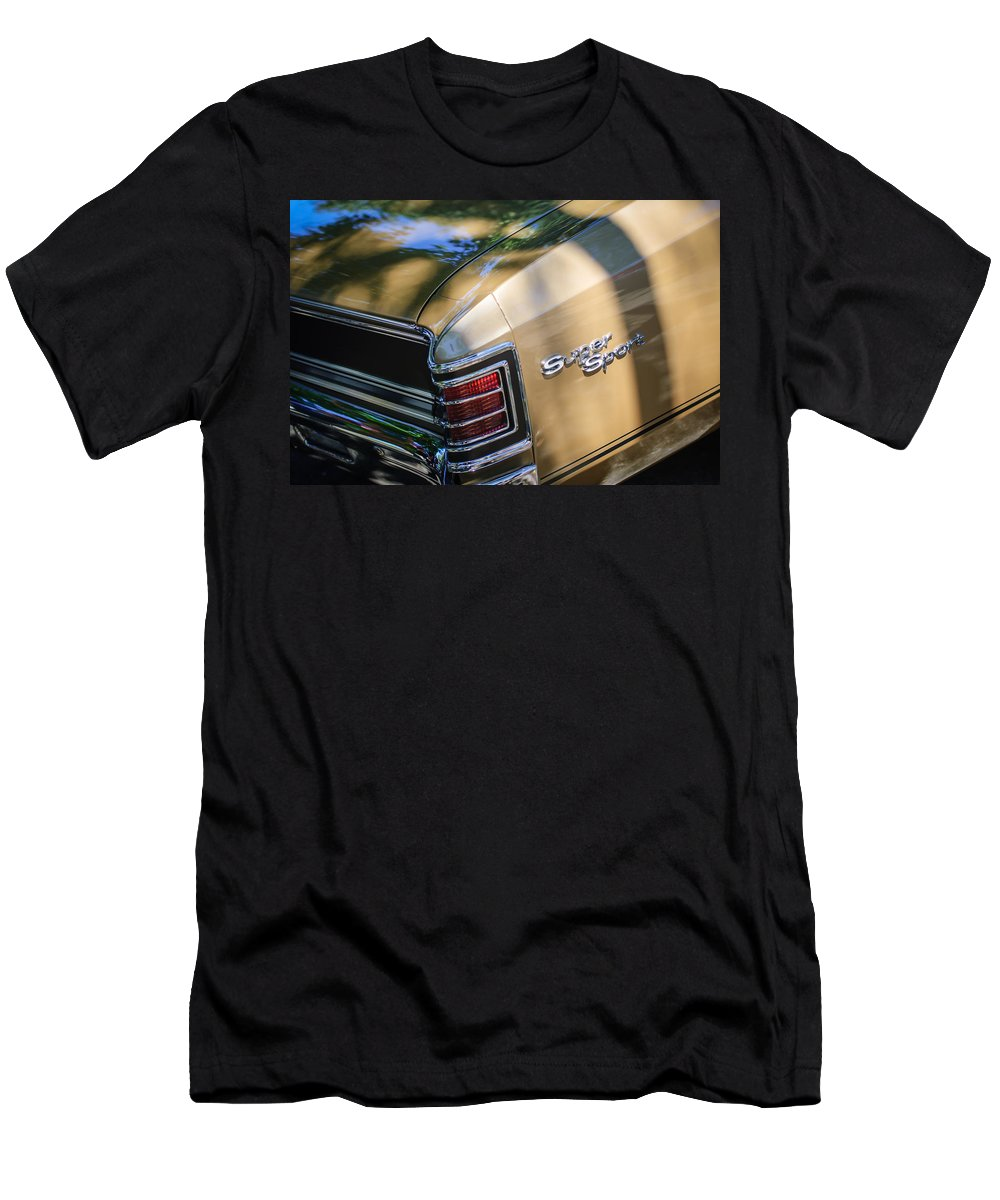 Chevrolet Chevelle Ss Taillight Emblems Men's T-Shirt (Athletic Fit) featuring the photograph Chevrolet Chevelle Ss Taillight Emblems by Jill Reger