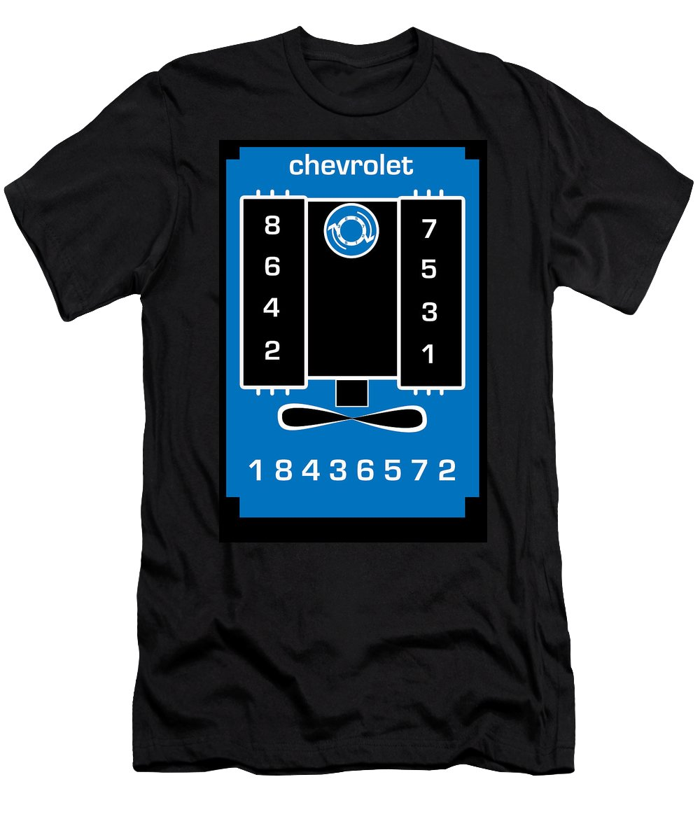 Chevrolet Men's T-Shirt (Athletic Fit) featuring the digital art Chevrolet Firing Order by Gabe Arroyo