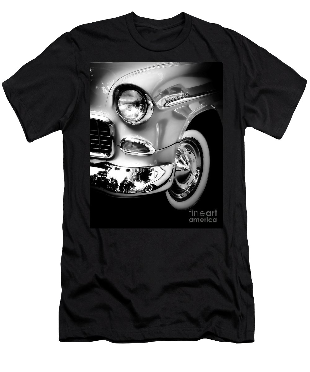 Car Men's T-Shirt (Athletic Fit) featuring the photograph Chevy Lines by Perry Webster