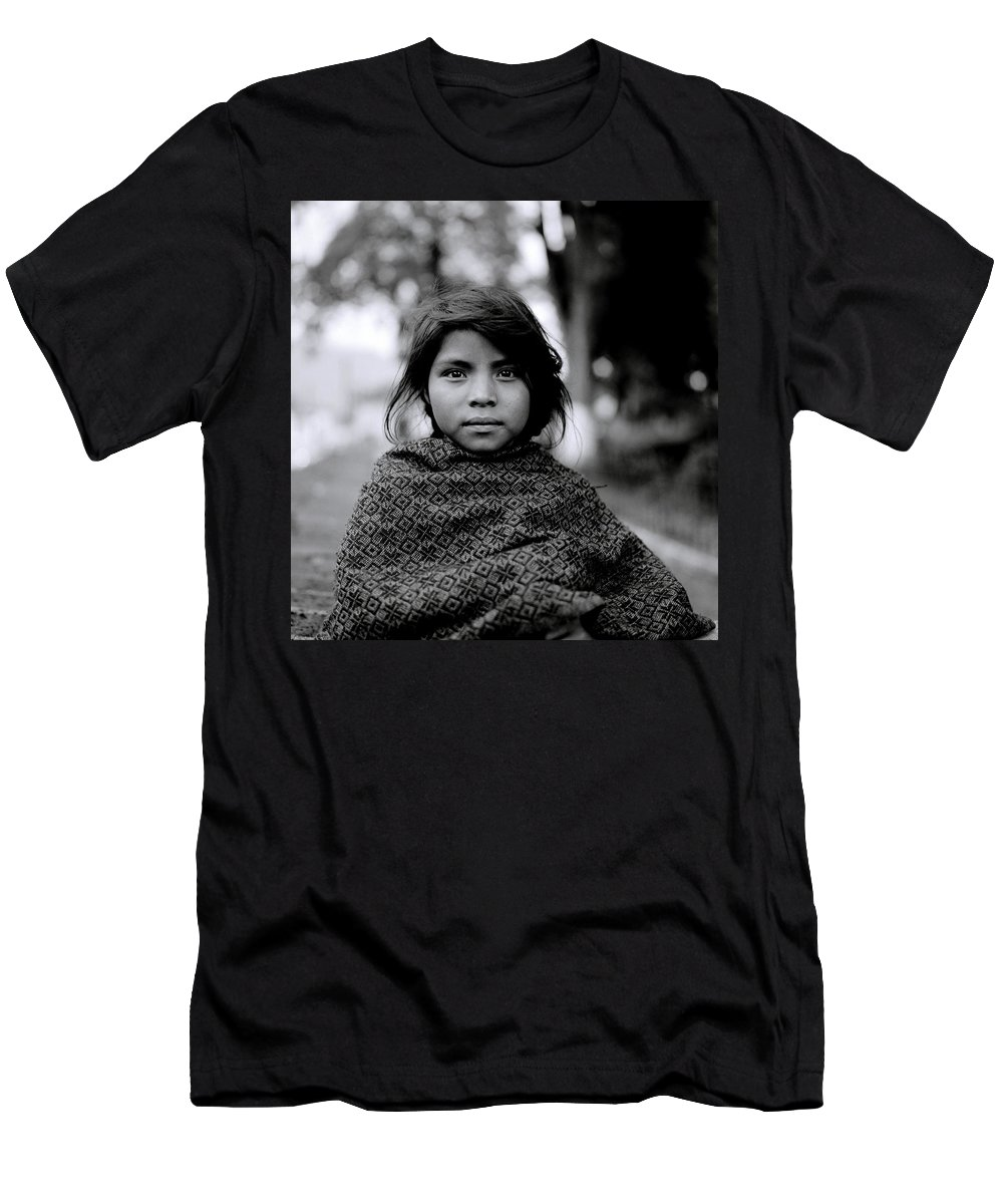 Childhood Men's T-Shirt (Athletic Fit) featuring the photograph Chiapas Girl by Shaun Higson