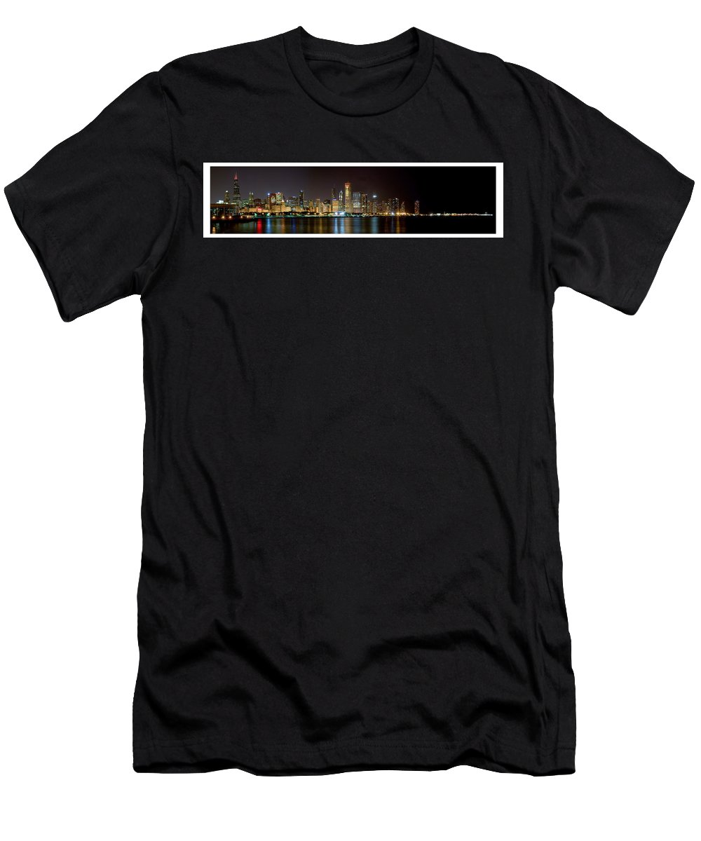 Chicago Men's T-Shirt (Athletic Fit) featuring the photograph Chicago Nhl Blackhawks by Patrick Warneka