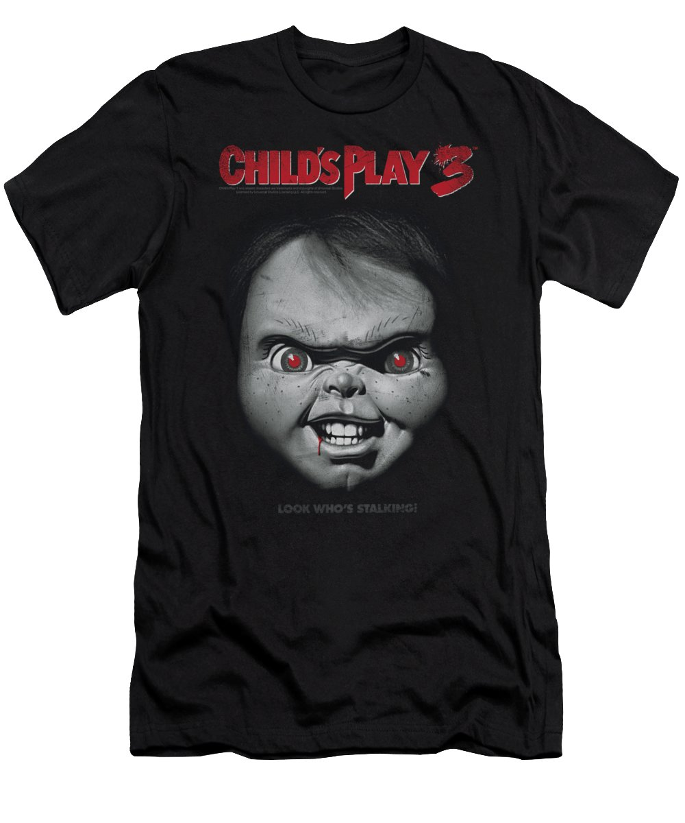 Child's Play 3 T-Shirt featuring the digital art Child's Play 3 - Face Poster by Brand A