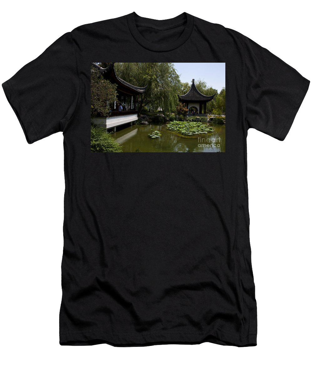 Chinese Garden Men's T-Shirt (Athletic Fit) featuring the photograph Chinese Gardens The Huntington Library by Jason O Watson