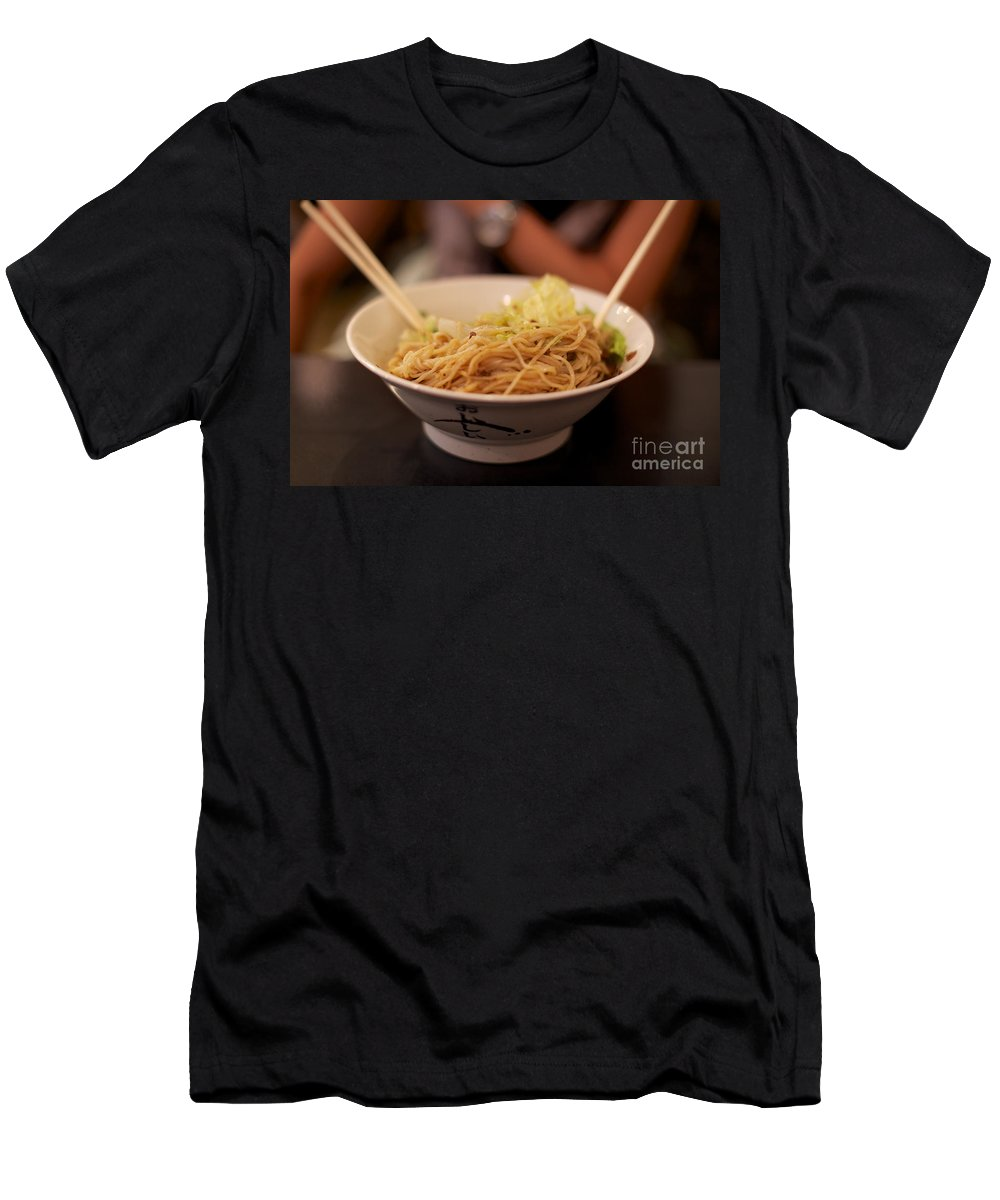 Asian Men's T-Shirt (Athletic Fit) featuring the photograph Chinese Noodle Dish by Jannis Werner