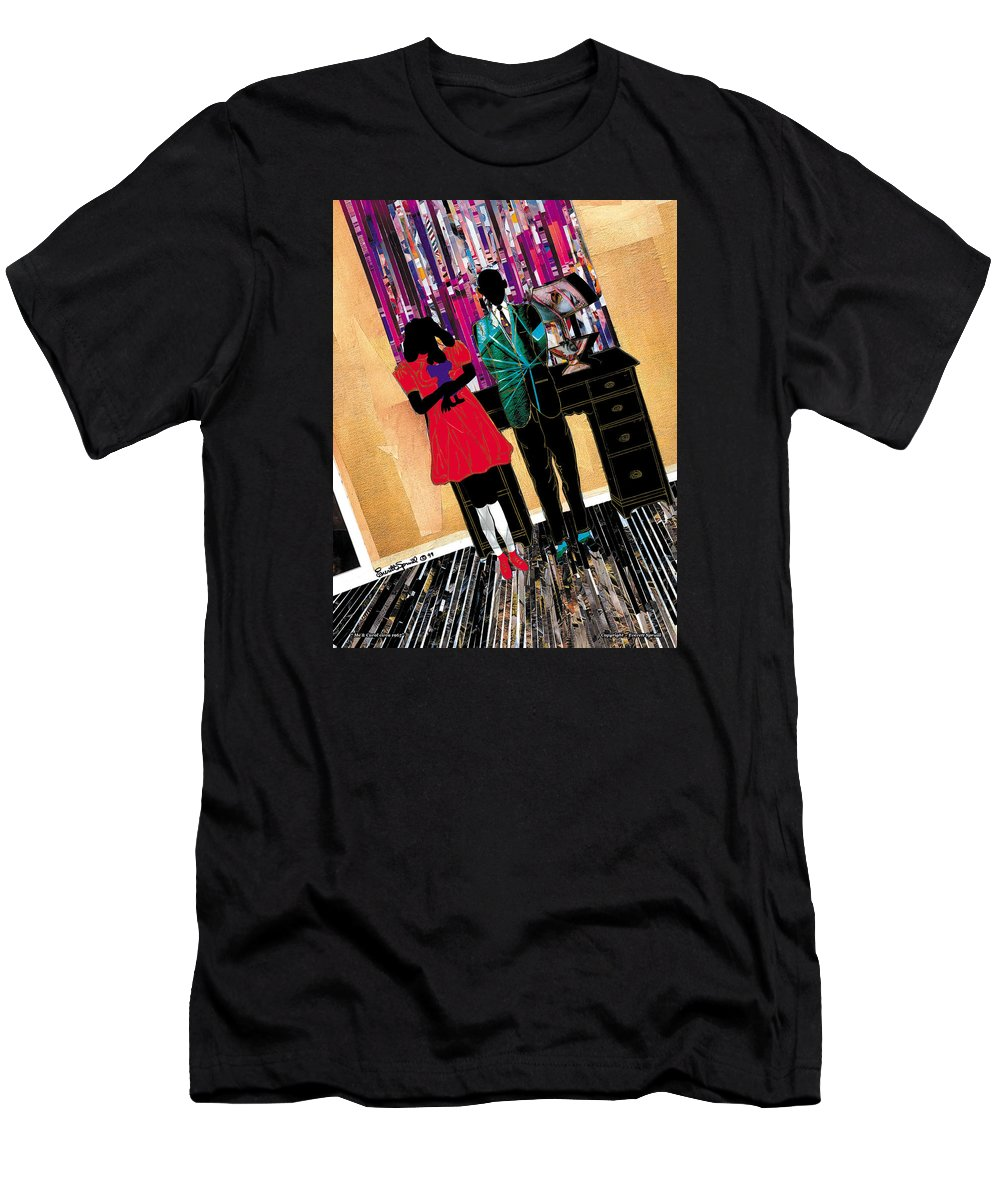 Everett Spruill T-Shirt featuring the painting Me and Carol by Everett Spruill