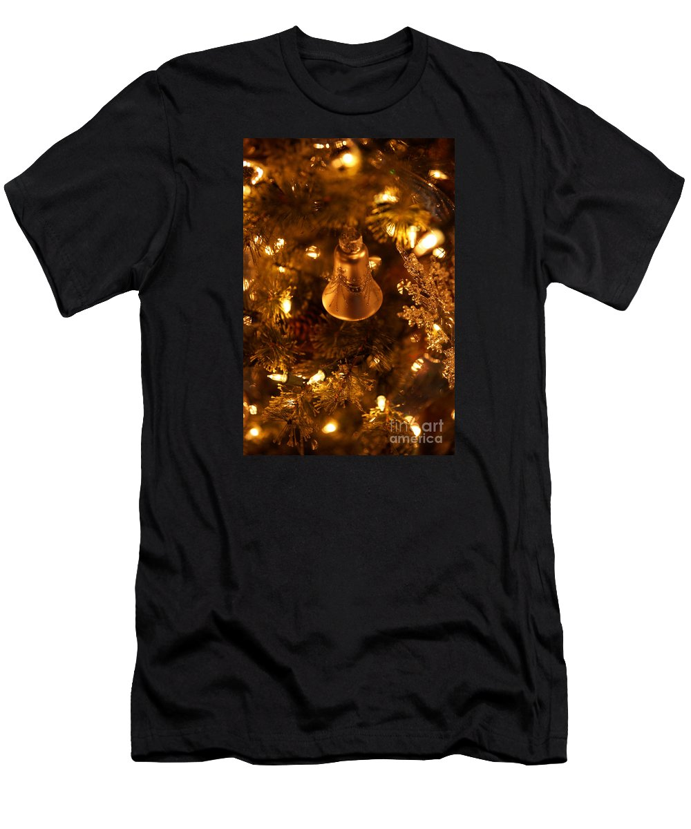 Christmas Men's T-Shirt (Athletic Fit) featuring the photograph Christmas Bell by Linda Shafer
