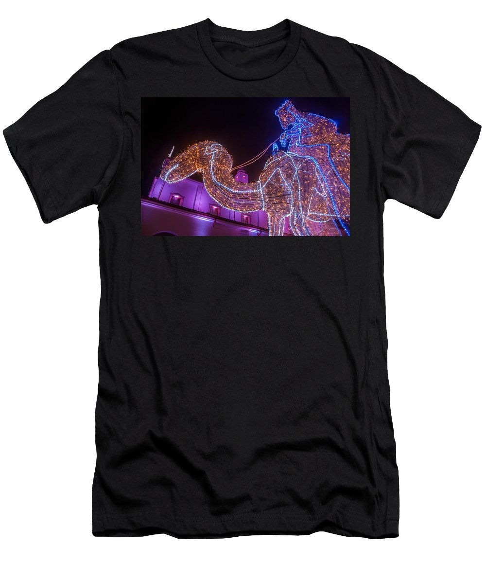 Night Men's T-Shirt (Athletic Fit) featuring the photograph Christmas Decorations by Jess Kraft