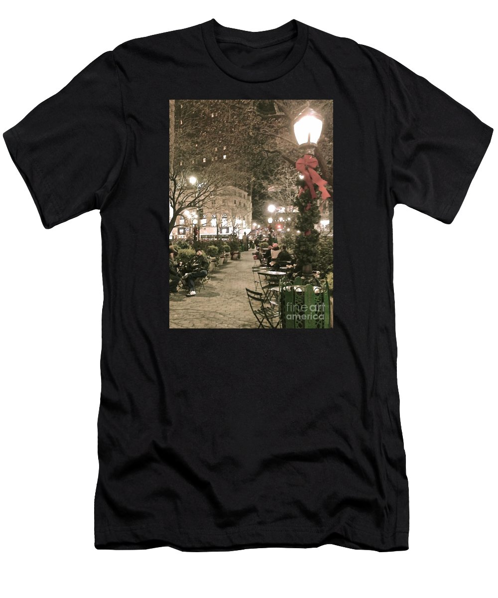 Manhattan Men's T-Shirt (Athletic Fit) featuring the photograph Christmas In Manhattan by Christy Gendalia