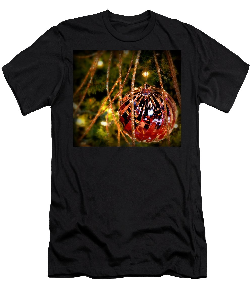 Christmas Men's T-Shirt (Athletic Fit) featuring the photograph Christmas Magic by Karen Wiles