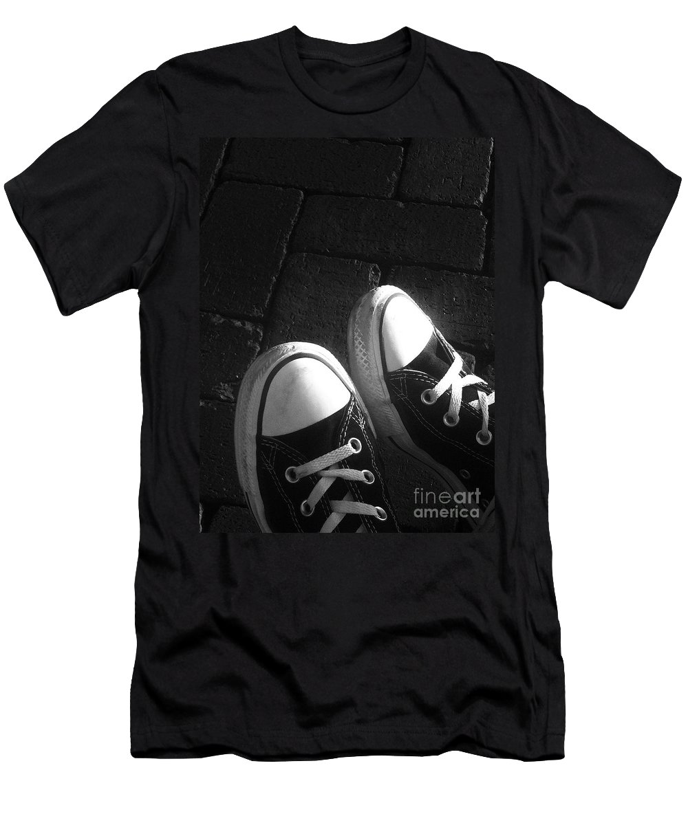 Converse Men's T-Shirt (Athletic Fit) featuring the photograph Chuck Taylor's by Michael Krek