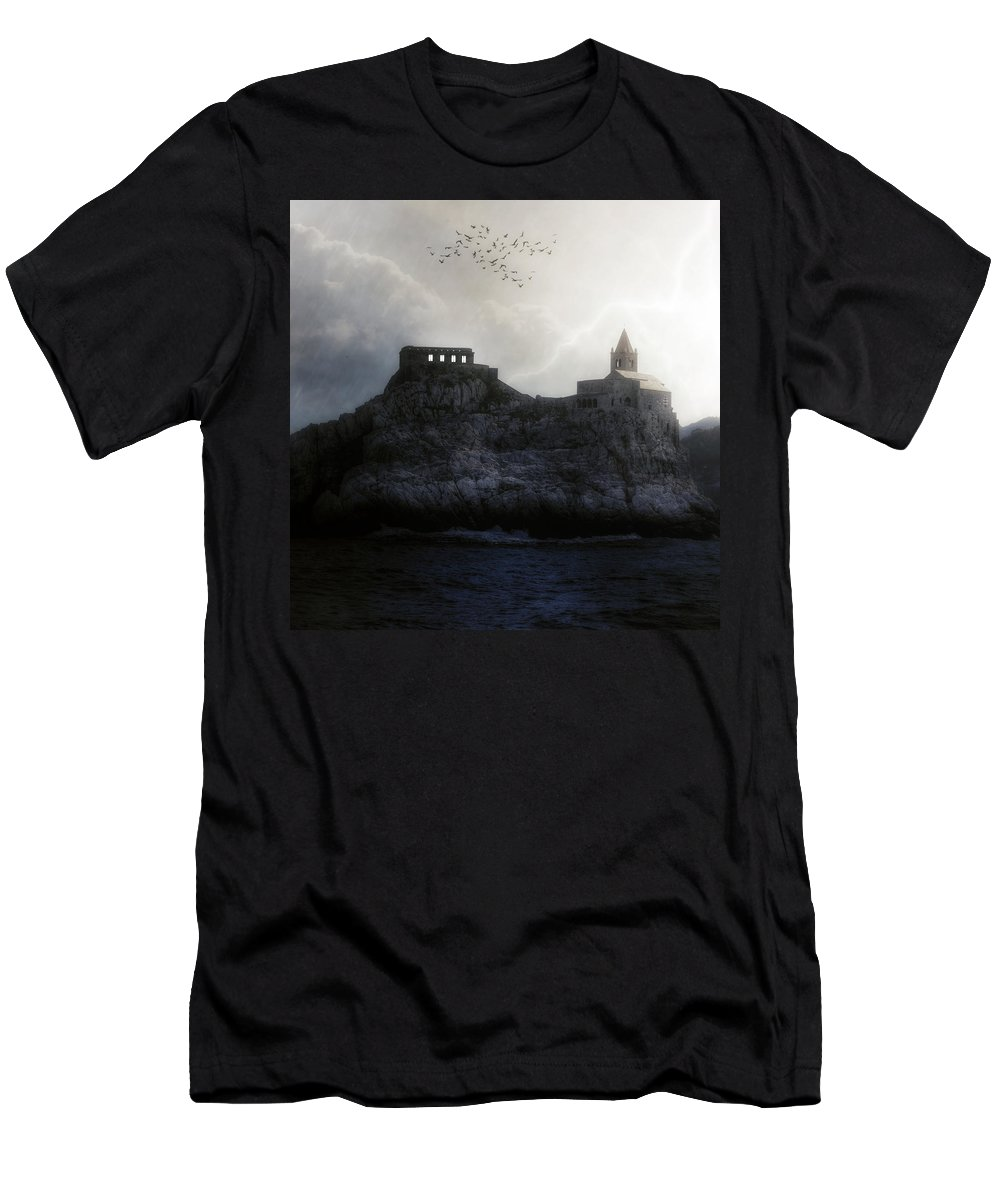 House Men's T-Shirt (Athletic Fit) featuring the photograph Church In Storm by Joana Kruse