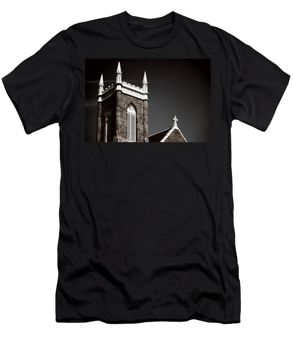 Men's T-Shirt (Athletic Fit) featuring the photograph Church In Tacoma Washington 5 by Cathy Anderson