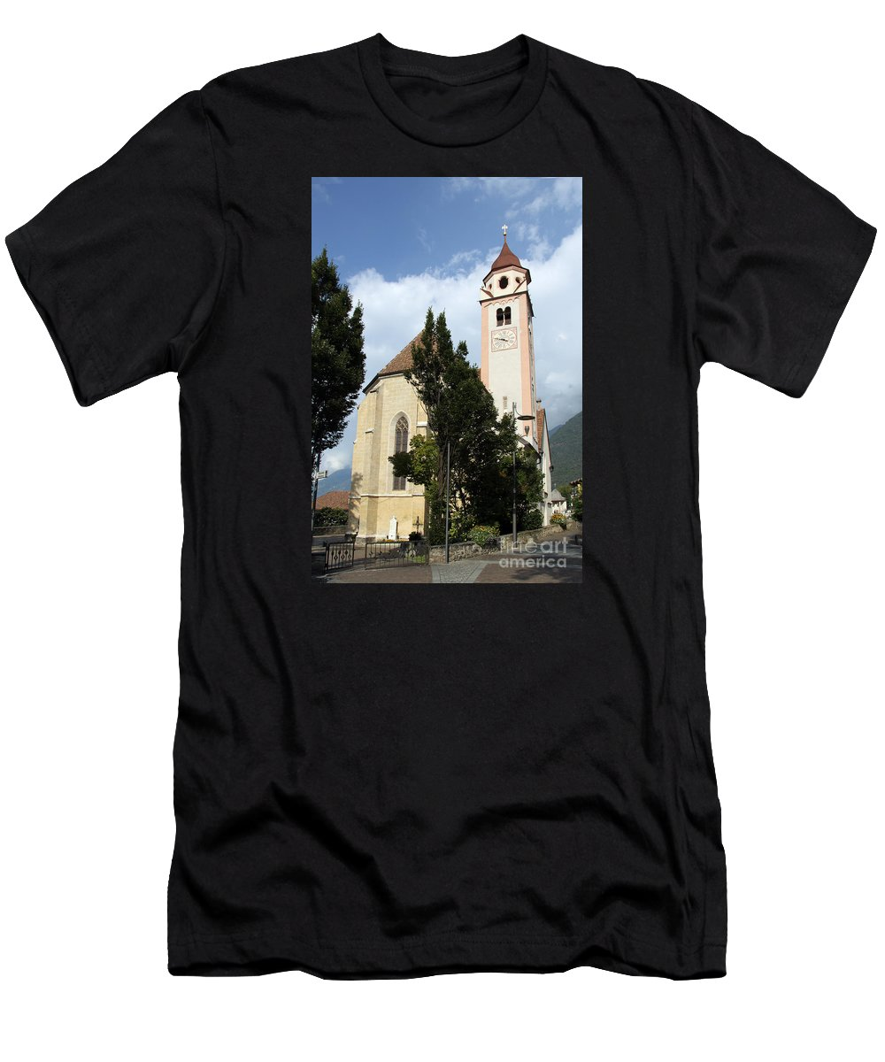 Church Men's T-Shirt (Athletic Fit) featuring the photograph Church Village Tirol by Christiane Schulze Art And Photography