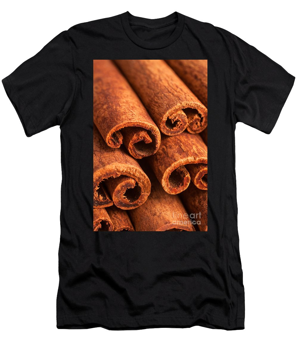 Iris Holzer Richardson Men's T-Shirt (Athletic Fit) featuring the photograph Cinnamon - Cinnamomum by Iris Richardson
