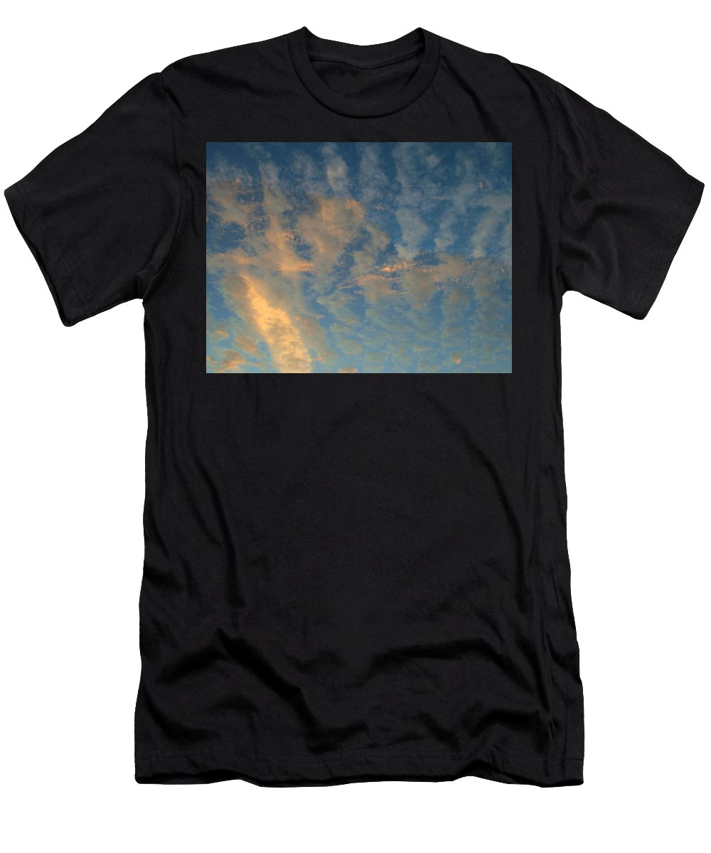 Cirrocumulus Morning Men's T-Shirt (Athletic Fit) featuring the photograph Cirrocumulus Morning by Ellen Henneke