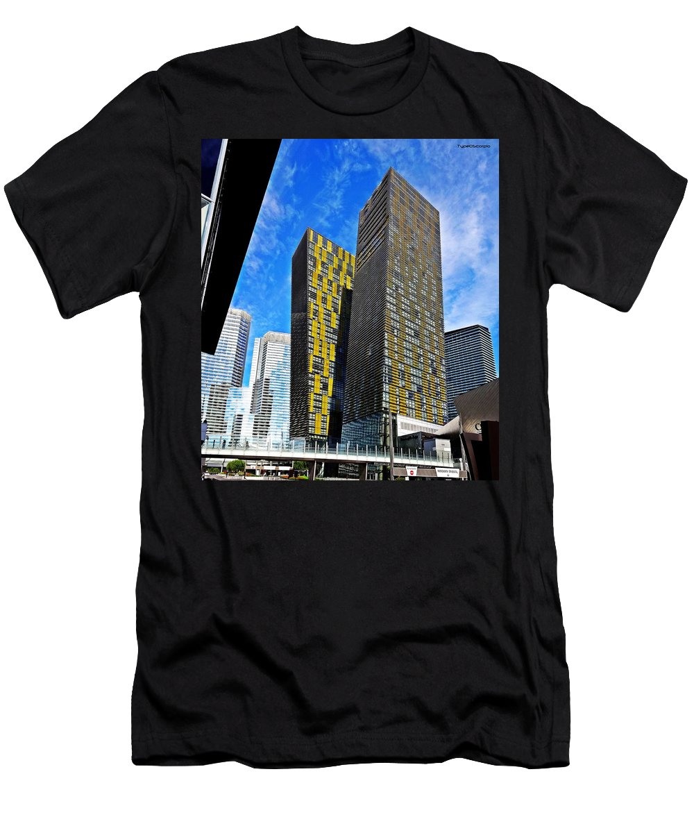 City Center Place Men's T-Shirt (Athletic Fit) featuring the photograph City Center Place by James Markey