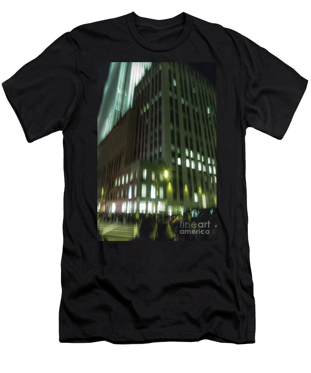 America Men's T-Shirt (Athletic Fit) featuring the photograph City Nights by Margie Hurwich