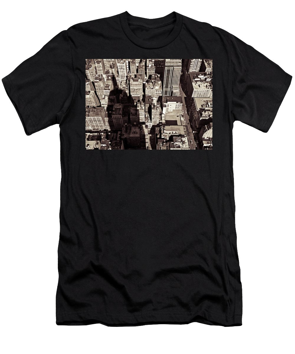 New York Men's T-Shirt (Athletic Fit) featuring the photograph City Shadow by Dave Bowman