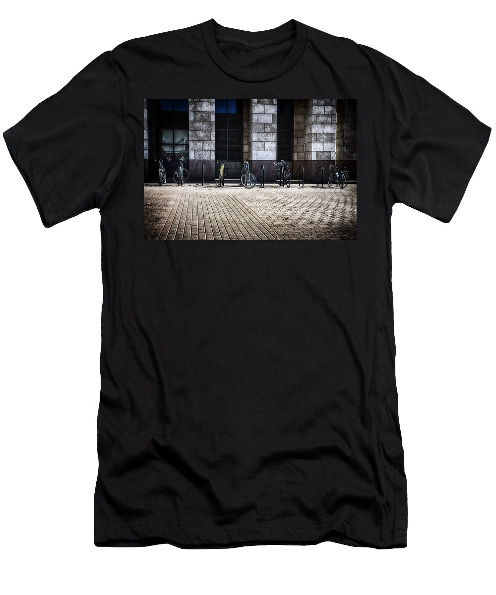 Downtown Men's T-Shirt (Athletic Fit) featuring the photograph City Transportation by Angelina Vick