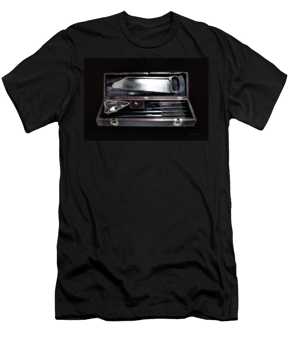 Civil War Men's T-Shirt (Athletic Fit) featuring the photograph Civil War Surgical Kit by Thomas Woolworth