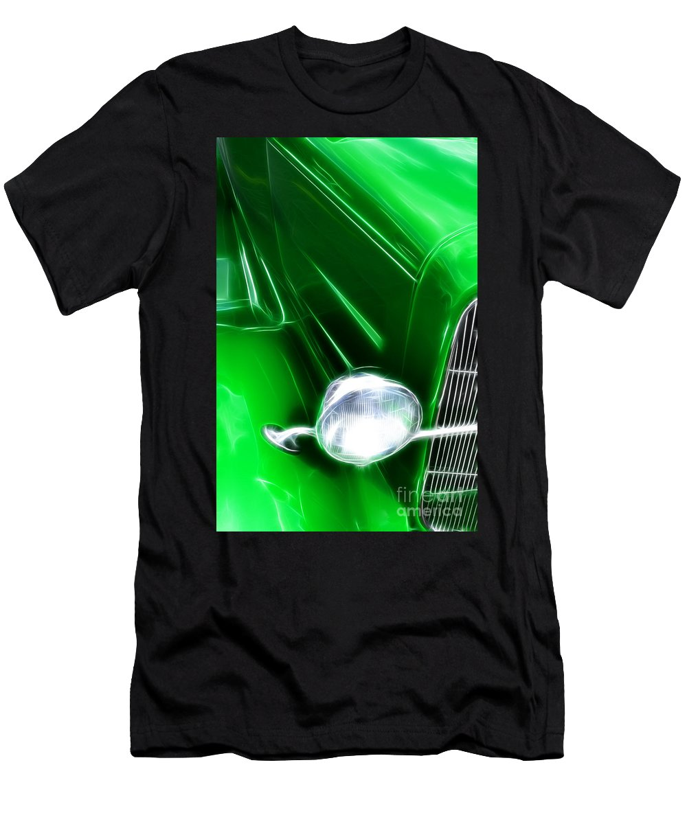Car Shows Men's T-Shirt (Athletic Fit) featuring the photograph Classic Cars Beauty By Design 2 by Bob Christopher
