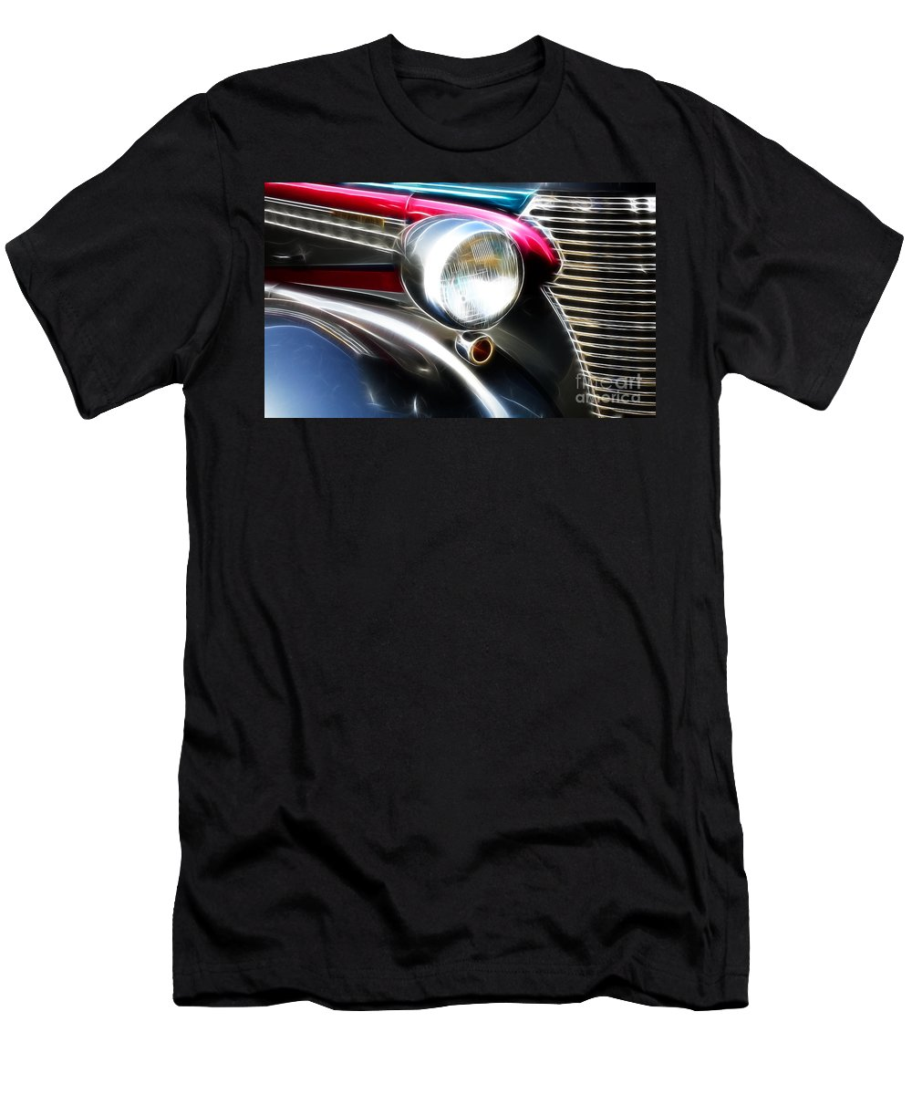 Car Shows Men's T-Shirt (Athletic Fit) featuring the photograph Classic Cars Beauty By Design 7 by Bob Christopher
