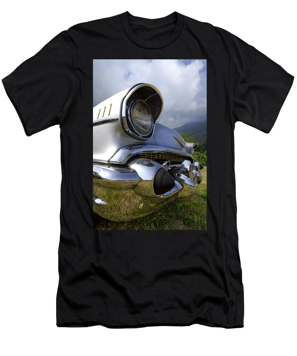 57 Men's T-Shirt (Athletic Fit) featuring the photograph Classic Chevrolet by Debra and Dave Vanderlaan