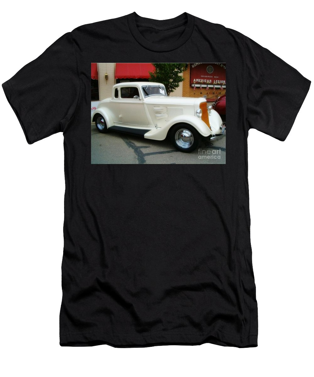Classic Cars Men's T-Shirt (Athletic Fit) featuring the photograph Classic White by Sara Raber