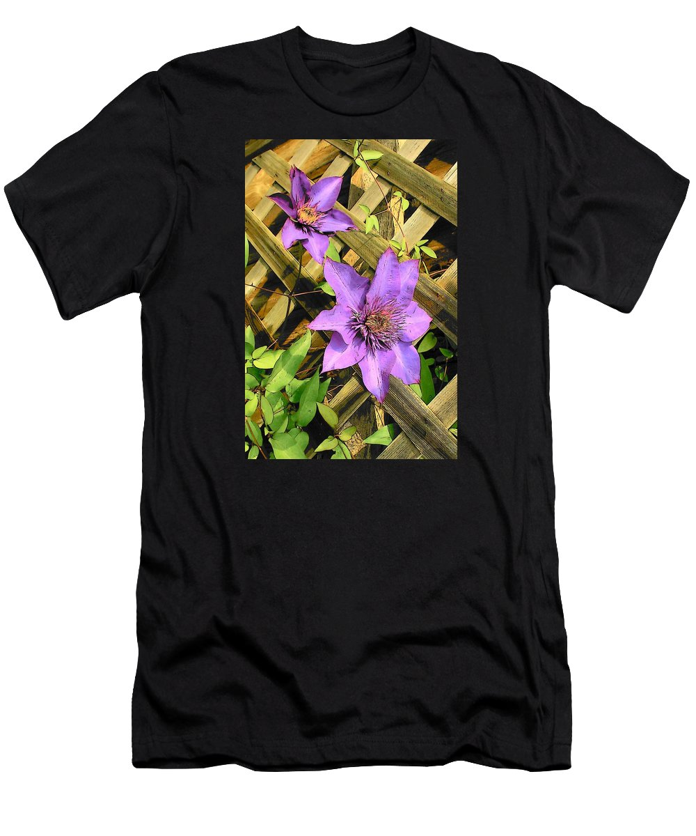 Clematis Men's T-Shirt (Athletic Fit) featuring the digital art Clematis by Susan McMenamin