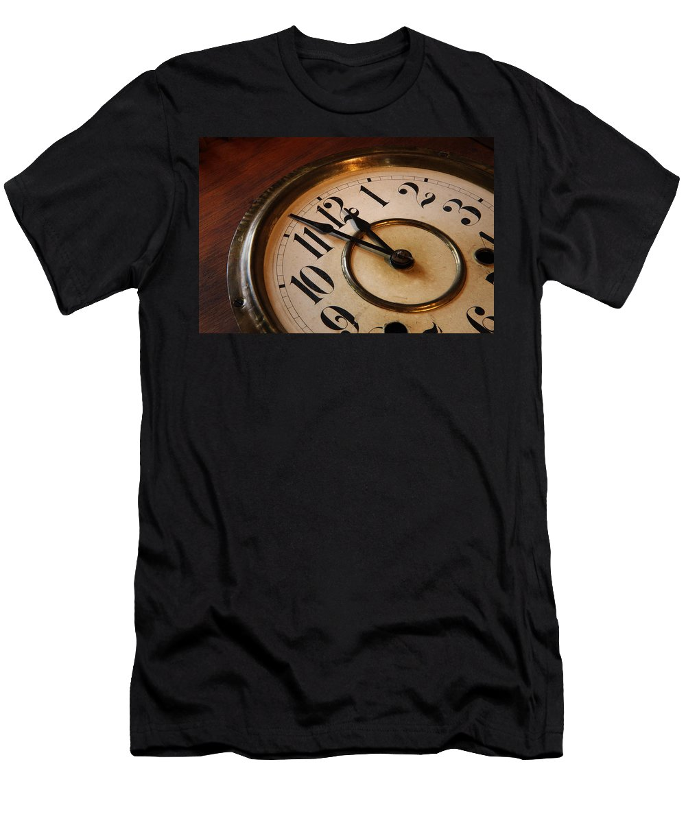 Very Men's T-Shirt (Athletic Fit) featuring the photograph Clock Face by Johan Swanepoel