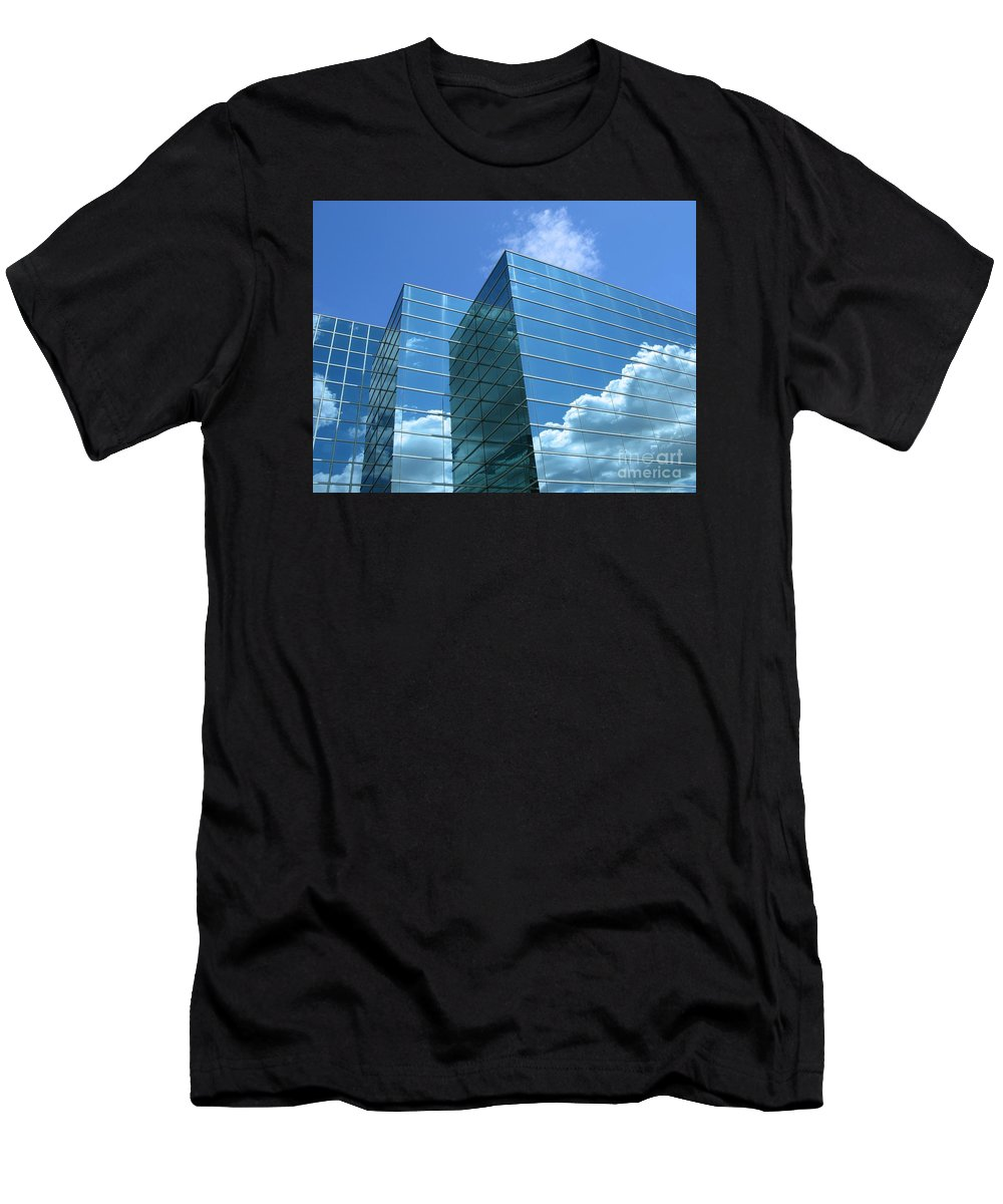 Building Men's T-Shirt (Athletic Fit) featuring the photograph Cloud Mirror by Ann Horn
