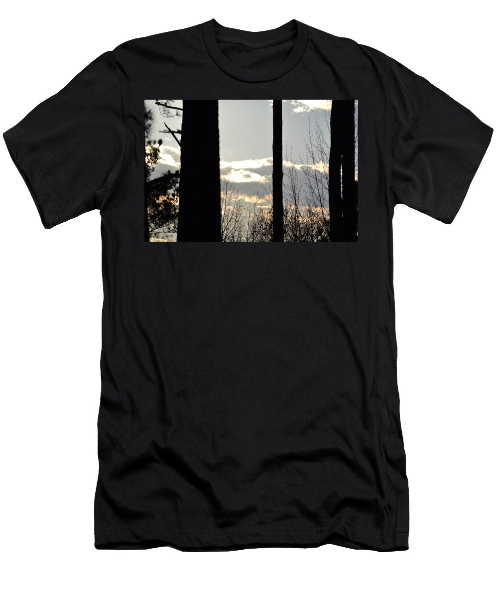 Clouds Men's T-Shirt (Athletic Fit) featuring the photograph Clouds At Dusk II by Tara Potts