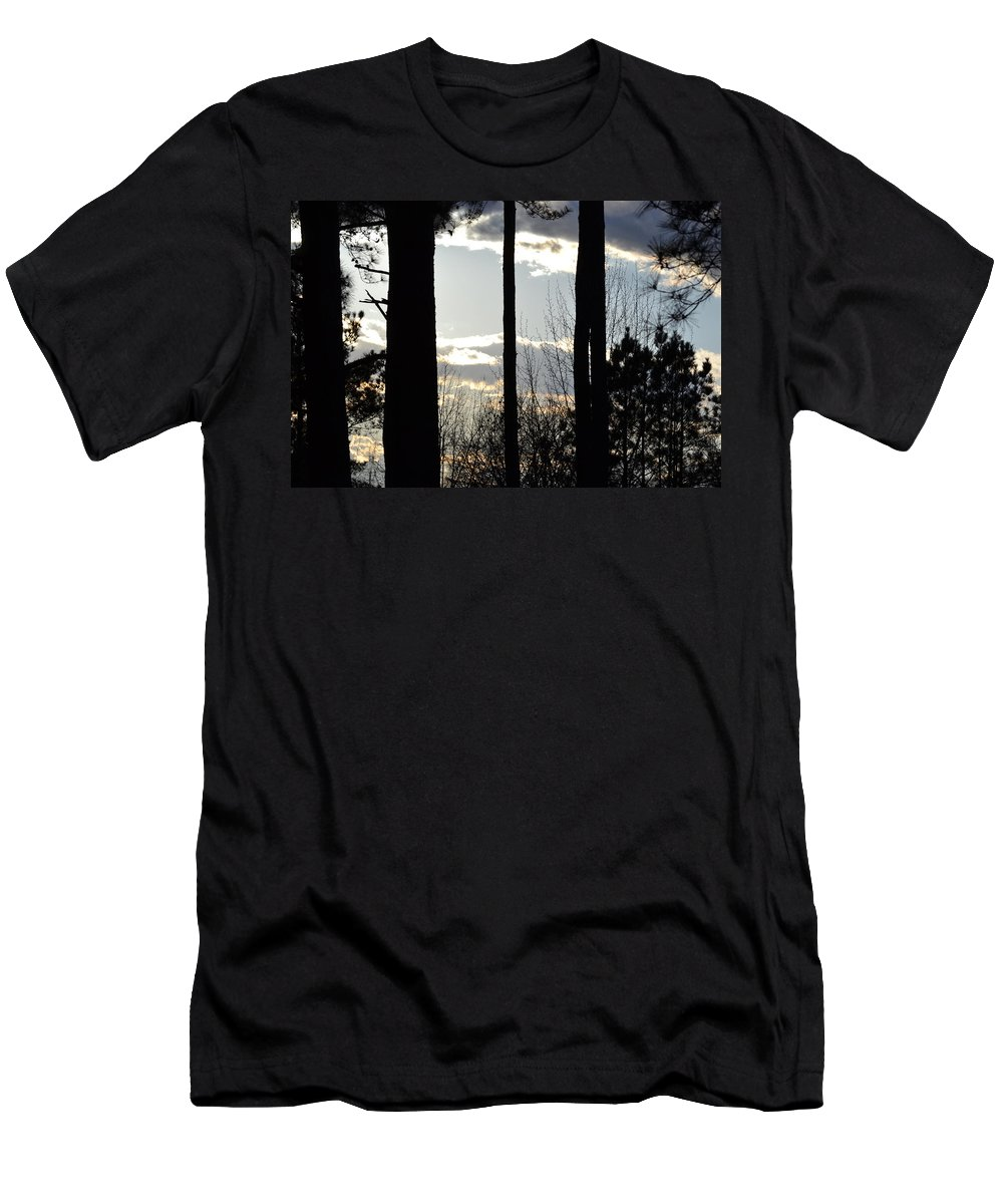 Clouds Men's T-Shirt (Athletic Fit) featuring the photograph Clouds At Dusk by Tara Potts