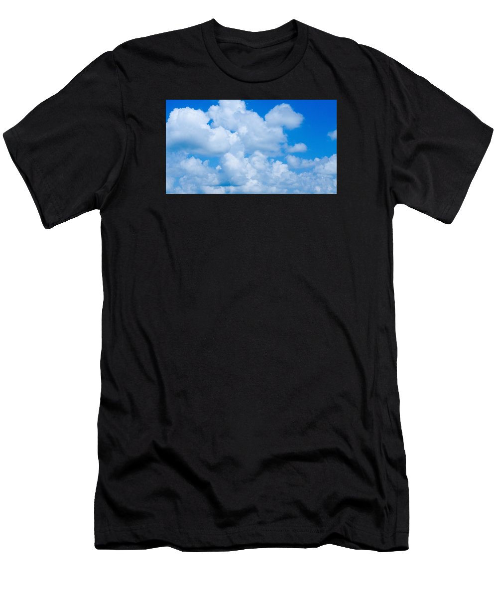 Clouds Men's T-Shirt (Athletic Fit) featuring the photograph Clouds In Blue Sky by FL collection