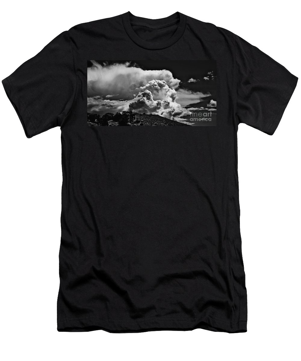 Clouds Men's T-Shirt (Athletic Fit) featuring the photograph Clouds Over Santa Fe by Madeline Ellis