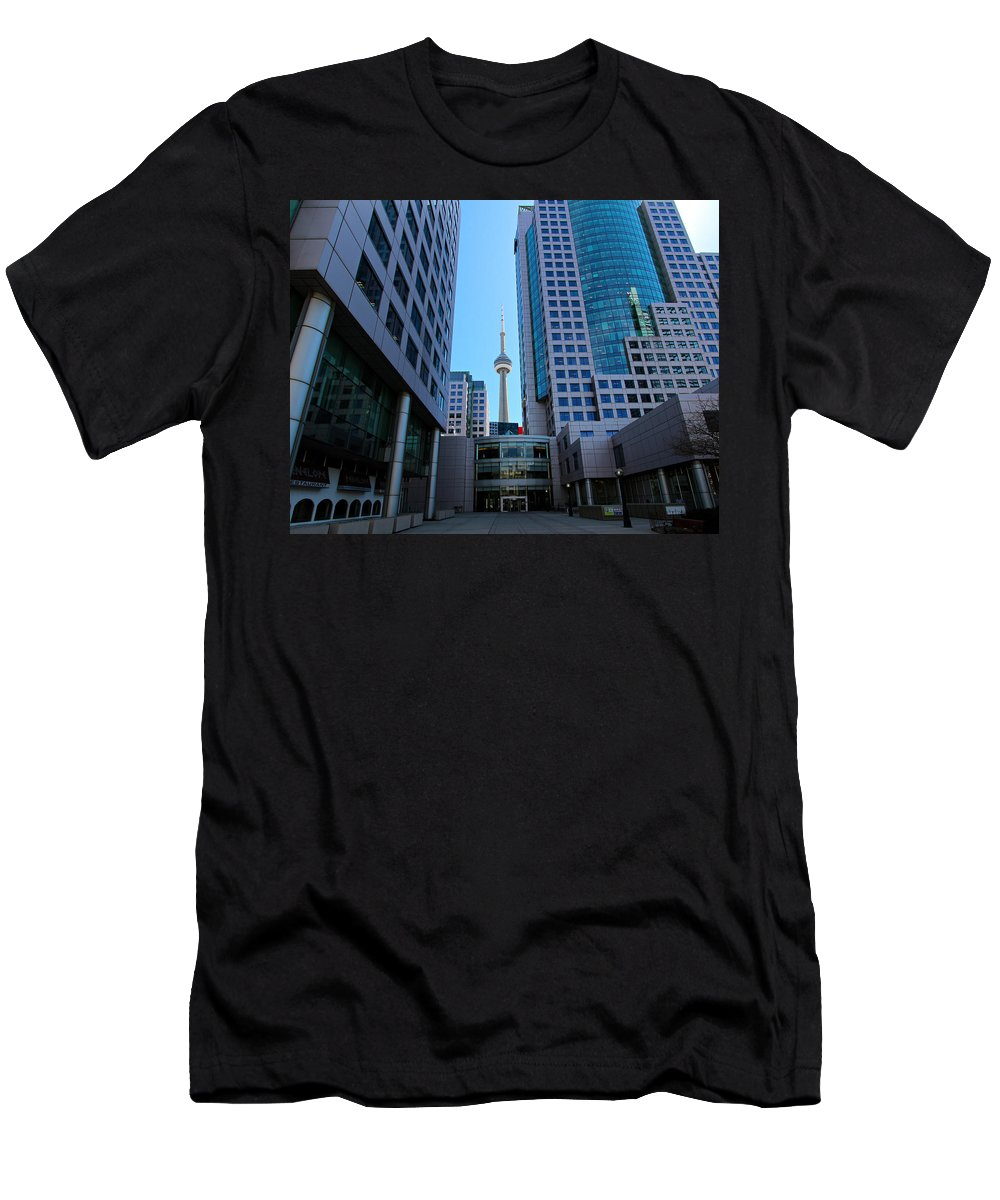 Toronto Men's T-Shirt (Athletic Fit) featuring the photograph Cn Tower by Paul Fell