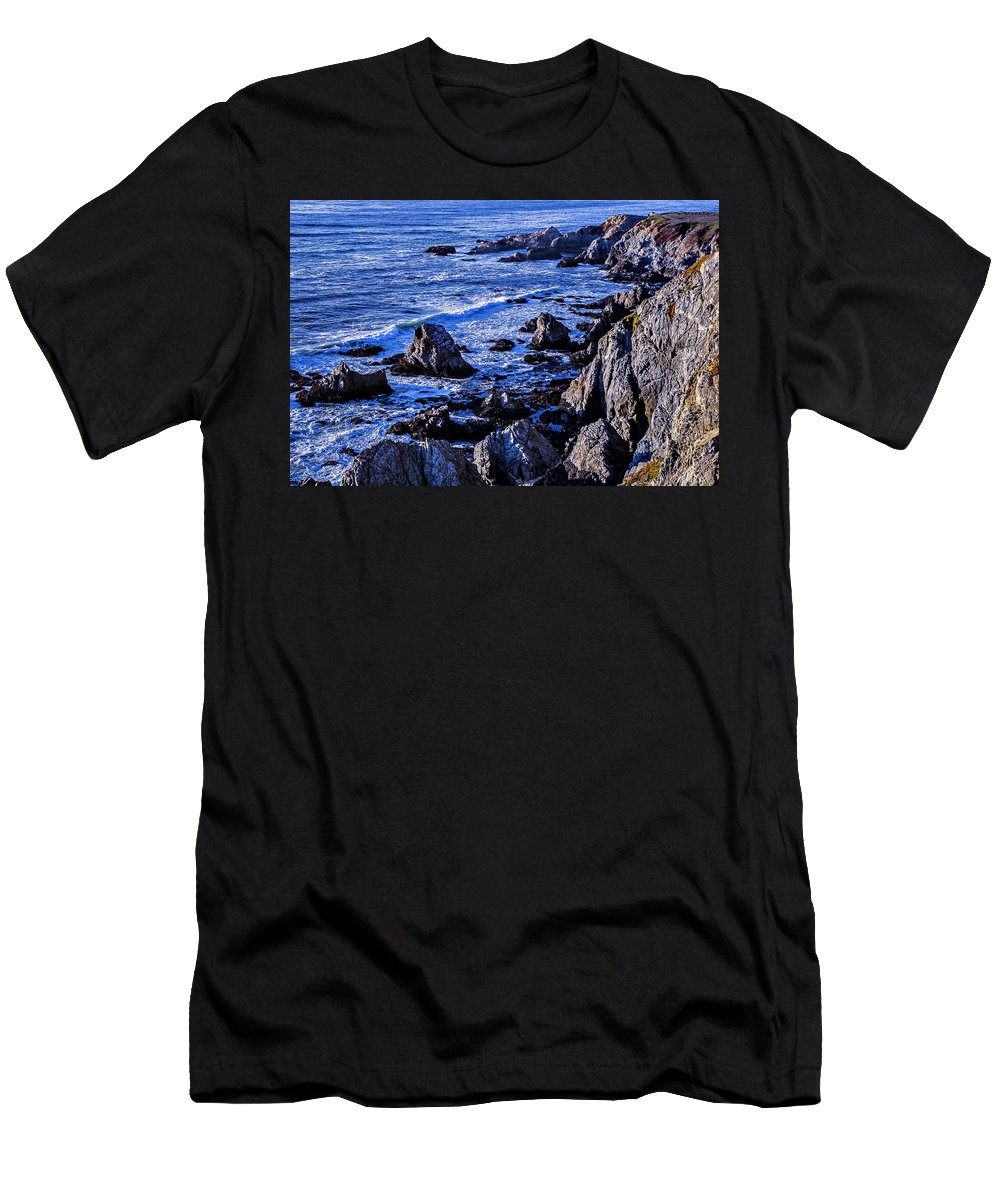 Gorgeous Men's T-Shirt (Athletic Fit) featuring the photograph Coastal Cliffs by Garry Gay