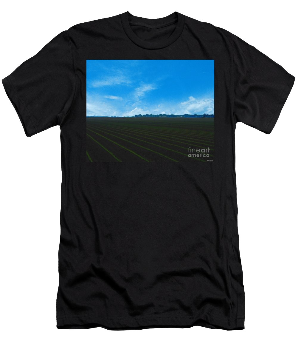 Farm Men's T-Shirt (Athletic Fit) featuring the photograph Coastal Farm Country Texas by Lizi Beard-Ward