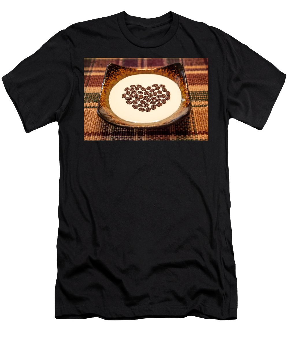 Coffee Men's T-Shirt (Athletic Fit) featuring the photograph Coffee And Cream by Aaron Aldrich