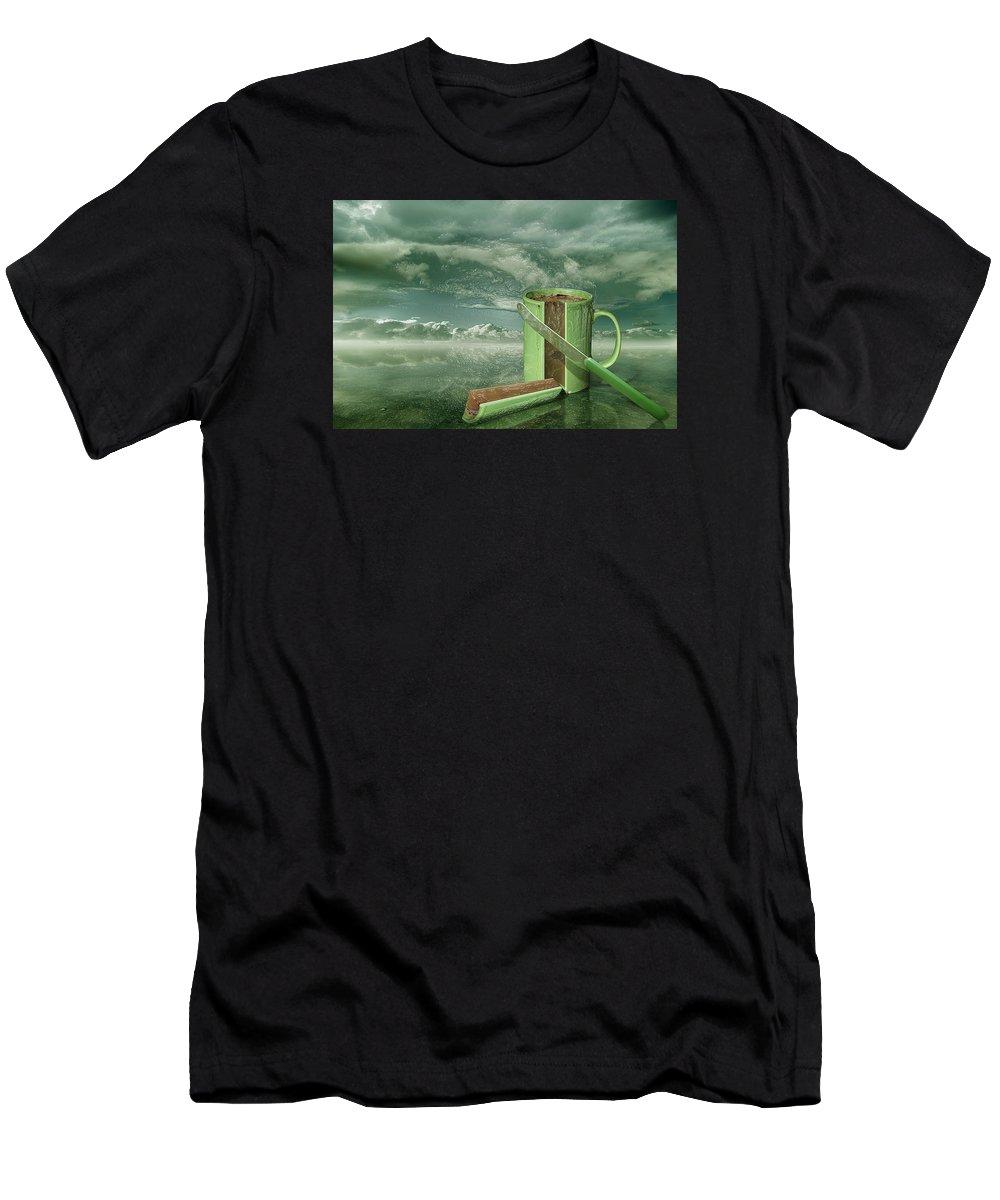 Still Life Men's T-Shirt (Athletic Fit) featuring the digital art Coffee Slice by Still Life