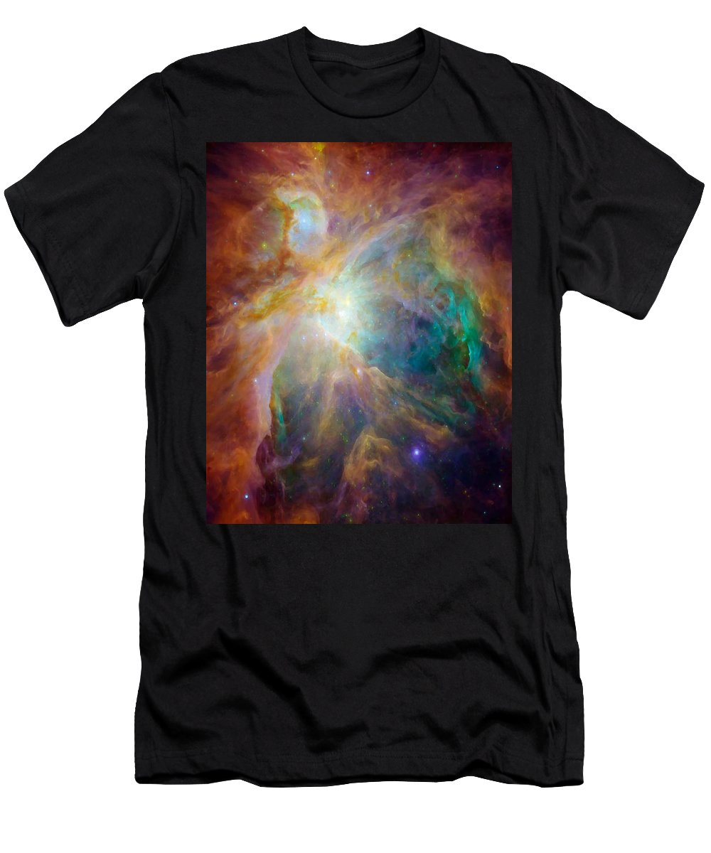 Abstract Art Men's T-Shirt (Athletic Fit) featuring the digital art Color Burst by Gail Daley